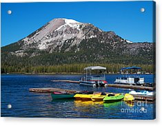 Mammoth Mountain California At Lake Mary Acrylic Print by ELITE IMAGE photography By Chad McDermott
