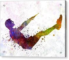 Man Exercising Workout Fitness  Acrylic Print by Pablo Romero