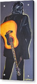 Man In Black's Back Acrylic Print by Eric Dee