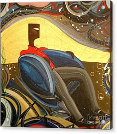 Man In Chair 2 Acrylic Print by John Lyes