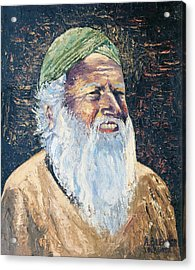 Man In The Green Turban Acrylic Print by Arline Wagner