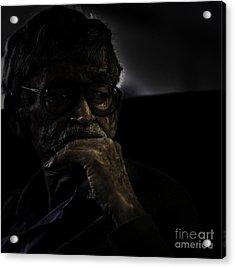 Man On Ferry Acrylic Print by Avalon Fine Art Photography