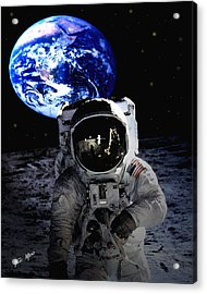 Man On The Moon Acrylic Print by Tray Mead