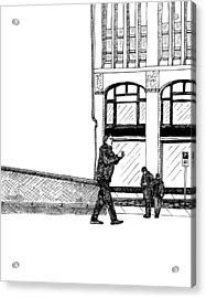Man With Camera Acrylic Print by Karl Addison