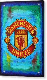 Manchester United Vintage Acrylic Print by Dan Haraga