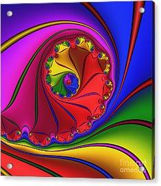 Mandala 156 Acrylic Print by Rolf Bertram
