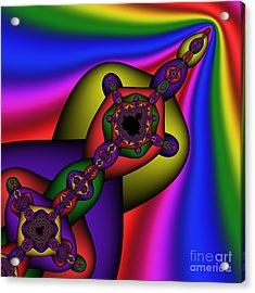 Mandala 160 Acrylic Print by Rolf Bertram