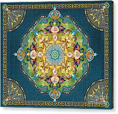 Mandala Arabesque Sp Acrylic Print by Bedros Awak