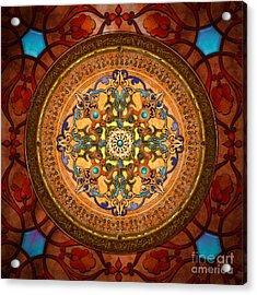 Mandala Arabia Acrylic Print by Bedros Awak