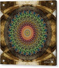 Mandala Armenian Alphabet Acrylic Print by Bedros Awak