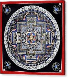 Mandala Acrylic Print by Ashwin Yoganandi