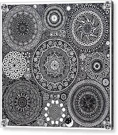 Mandala Bouquet Acrylic Print by Matthew Ridgway