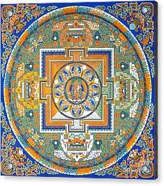 Mandala From Lhasa Acrylic Print by Birgit Moldenhauer