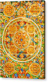 Mandala Of Heruka In Yab Yum And Buddhas 1 Acrylic Print by Lanjee Chee