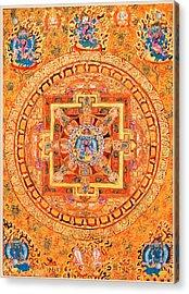 Mandala Of Heruka In Yab Yum Acrylic Print by Lanjee Chee