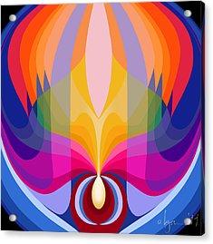Mandala Sacred Acrylic Print by Angela Treat Lyon
