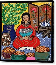 Mandarin Daze Acrylic Print by Susie Grossman