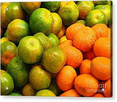 Mandarins And Tangerines Acrylic Print by Yali Shi