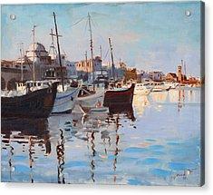 Mandraqi Rhodes Greece Acrylic Print by Ylli Haruni
