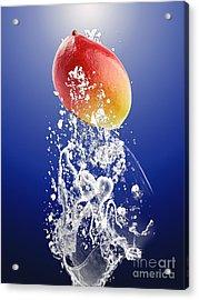 Mango Splash Acrylic Print by Marvin Blaine
