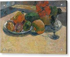 Mangos Et La Fleur Dhibiscus Acrylic Print by Paul Gauguin