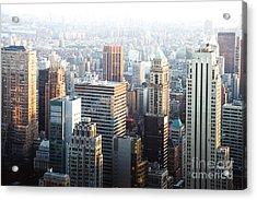 Manhattan Living Acrylic Print by Sonja Quintero