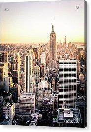 Manhattan Acrylic Print by Michael Weber