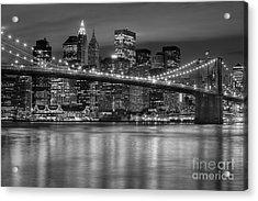 Manhattan Night Skyline Iv Acrylic Print by Clarence Holmes