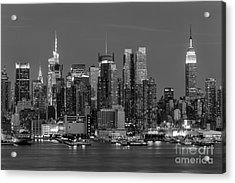 Manhattan Twilight Iv Acrylic Print by Clarence Holmes