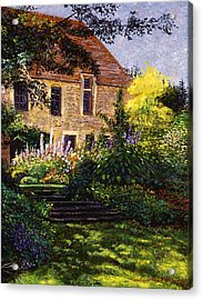 Manor House Steps Acrylic Print by David Lloyd Glover