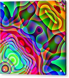 Manta Ray Acrylic Print by Charles Ragsdale
