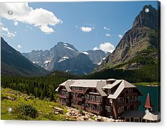 Many Glacier Hotel Acrylic Print by Bruce Gourley