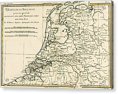 Map Of Holland Including The Seven United Provinces Of The Low Countries Acrylic Print by Guillaume Raynal
