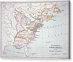 Map Of The Colonies Of North America At The Time Of The Declaration Of Independence Acrylic Print by American School