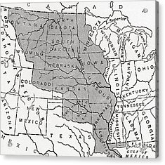 Map Showing The Louisiana Purchase Acrylic Print by American School