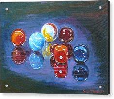 Marbels Acrylic Print by Tomas OMaoldomhnaigh