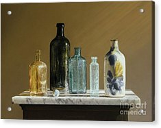 Marble On Marble Acrylic Print by Barbara Groff