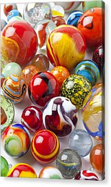 Marbles Close Up Acrylic Print by Garry Gay