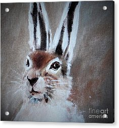 March Hare In Colour Acrylic Print by Angela Cartner