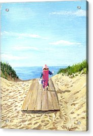 March To The Beach Acrylic Print by Jack Skinner