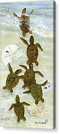 March To The Sea Acrylic Print by Kevin Brant