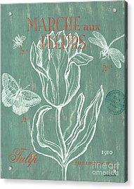 Marche Aux Fleurs Acrylic Print by Debbie DeWitt