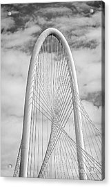 Margaret Hunt Hill Bridge Black And White Acrylic Print by Tod and Cynthia Grubbs