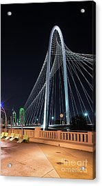 Margaret Hunt Hill Bridge In Dallas Acrylic Print by Tod and Cynthia Grubbs