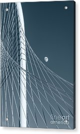 Margaret Hunt Hill With Moon Acrylic Print by Tod and Cynthia Grubbs