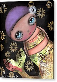 Maria Acrylic Print by  Abril Andrade Griffith