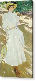 Maria At La Granja, 1907 Acrylic Print by Joaquin Sorolla y Bastida