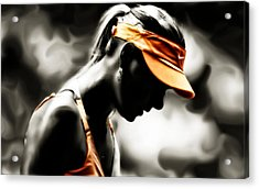 Maria Sharapova Deep Focus Acrylic Print by Brian Reaves