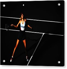 Maria Sharapova Focus Acrylic Print by Brian Reaves