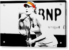 Maria Sharapova Stay Focused 2 Acrylic Print by Brian Reaves
